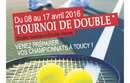 2 dates à retenir en avril pour le tournoi de doubles!